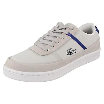 Mens Lacoste Casual Lace Up Trainers Court Line