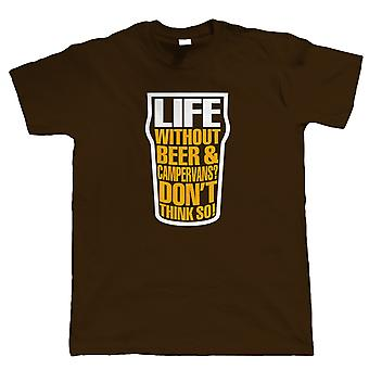 Vectorbomb, Life Without Beer & Campervans T Shirt (S to 5XL)