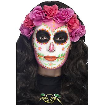 Make up set day of the dead Mexico 4 colours with scraper pink neon green orange white