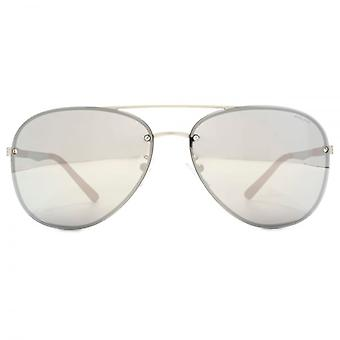 Police Court 3 Aviator Sunglasses In Matte Palladium
