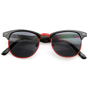 Classic Retro Fashion Colorful Half Frame Horn Rimmed Style Sunglasses