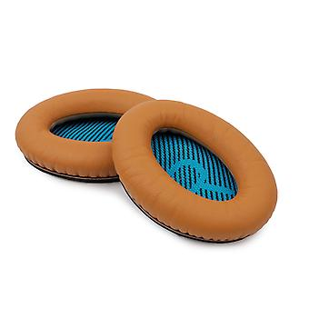 REYTID Replacement Brown Ear Pads Kit for Bose SoundLink Around-Ear Headphones Cushions - Pair of Leather Foam EarPads Cups w/ 3m Adhesive