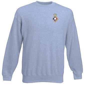 HMS London Stickerei Logo - offizielle königliche Marine Heavyweight Sweatshirt