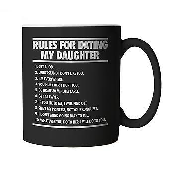 Правила для знакомства моя дочь, смешная кружка