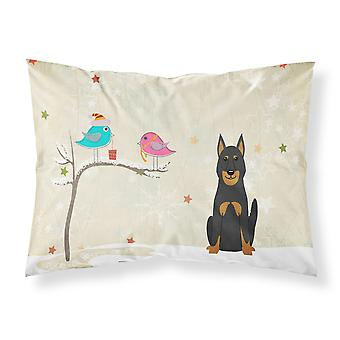 Christmas Presents between Friends Beauce Shepherd Dog Fabric Standard Pillowcas