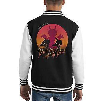 Cuphead Deal With the Devil Kid's Varsity Jacket