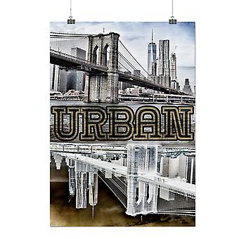 Matte or Glossy Poster with NYC Urban Metropolis City | Wellcoda | *q32