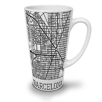 Spain City Barcelona NEW White Tea Coffee Ceramic Latte Mug 17 oz | Wellcoda