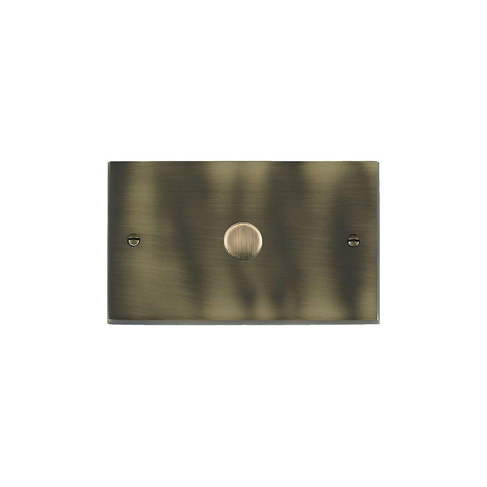 Hamilton Litestat Cheriton Victorian Antique Brass 1g 1000W 2 Way Dimmer AB