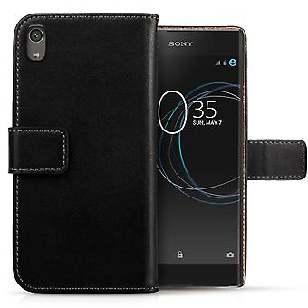 Sony Xperia XA1 (2017) Real Leather Wallet - Black