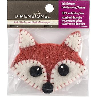Felt Appliqued Fox Face- 72-74382