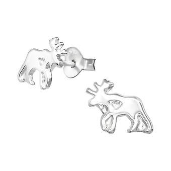 Orignal - clous d'oreilles de la plaine d'argent Sterling 925 - W33603x