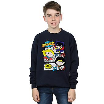 DC Comics Boys Chibi Super Friends Dance Sweatshirt
