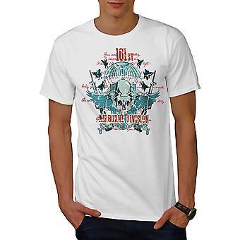 Airborne Division Totenkopf Männer WhiteT-t-Shirt   Wellcoda