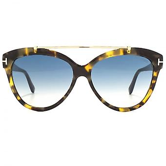 Tom Ford Livia Sunglasses In Light Havana