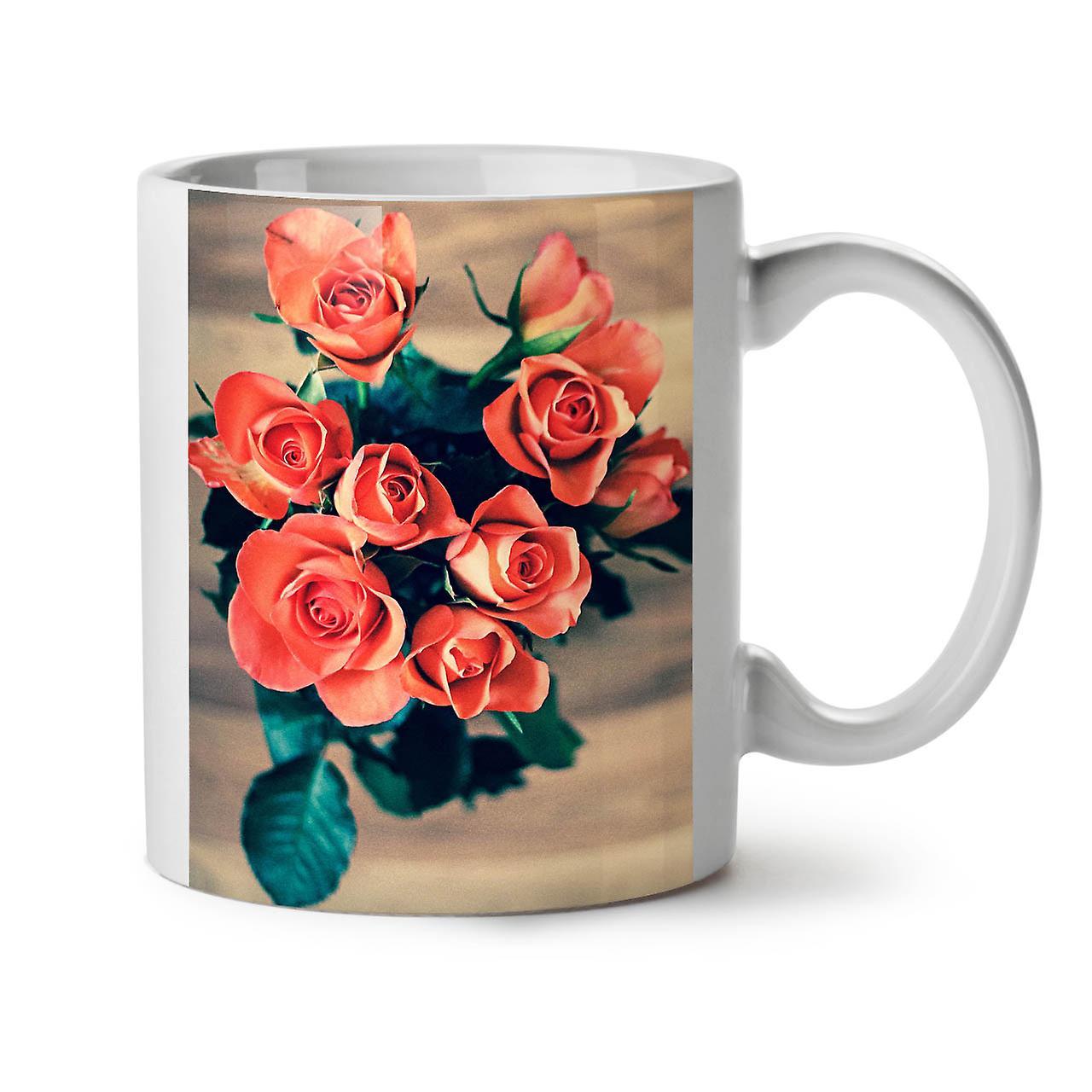 OzWellcoda Beauté La Roses Nouveau Tasse Nature Céramique Café Blanc 11 De Thé xBCroedW