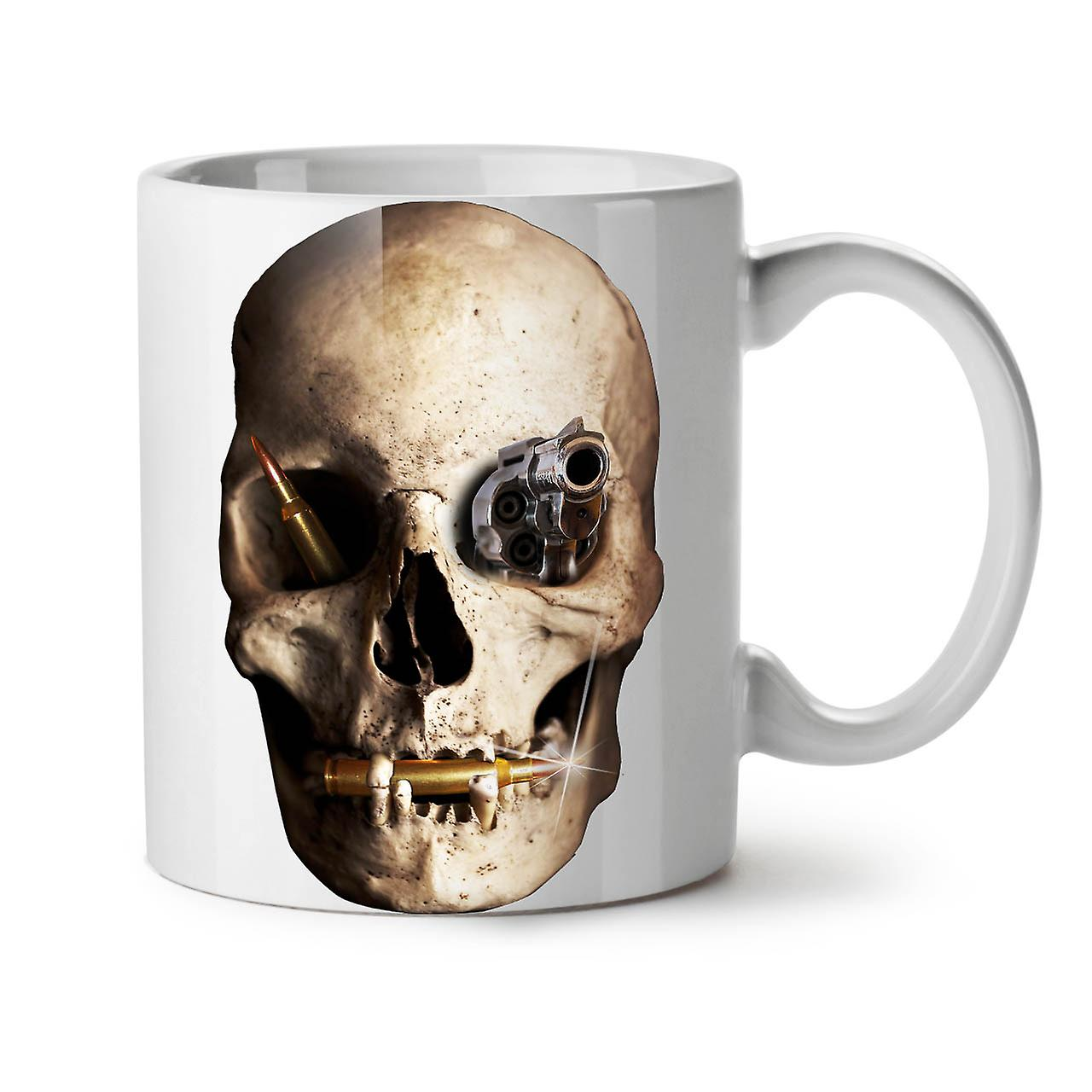 Skull Café Metal Gun Thé OzWellcoda Death Nouveau Céramique Tasse 11 Blanc dxreWoCB