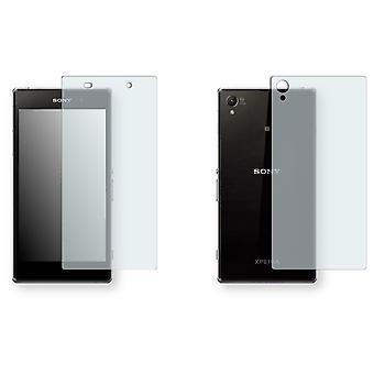 Sony Xperia C6916 front + back screen protector - Golebo crystal-clear protector (1 front / 1 rear)