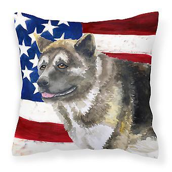 Amerikansk Akita patriotiske stof dekorative pude
