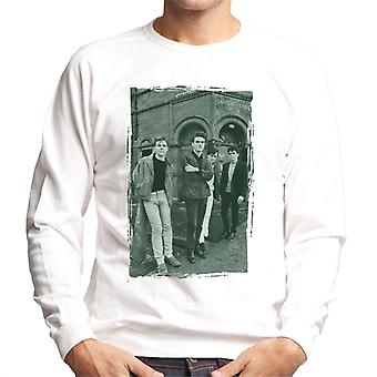 The Smiths In Manchester At Salford Lads Club Distressed Frame Men's Sweatshirt