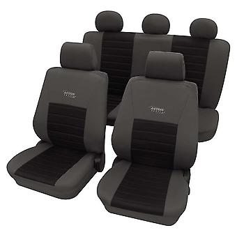 Sports Style Grey & Black Seat Cover set For Renault 19 Saloon 1988-1992