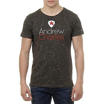 Andrew Charles Mens T-shirt Short Sleeves Round Neck Dark Green Jack