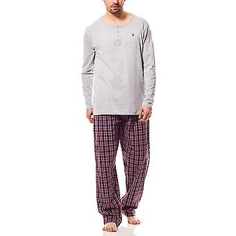 U.S. POLO ASSN. Pajama set men's sleep suit grey bed linen