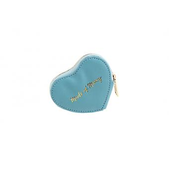 CGB Giftware Willow And Rose Made of Money Blue Heart Coin Purse