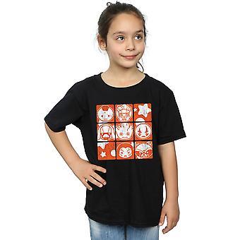 Marvel Girls Kawaii Guardians of The Galaxy Retro T-Shirt