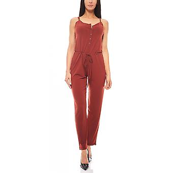 Taillierter Sommer-Jumpsuit Overall B.C. Best Connections Rostrot