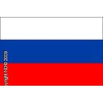 Rusland Flag hånd holdt 20 X 14cm. Plast 30cm pind