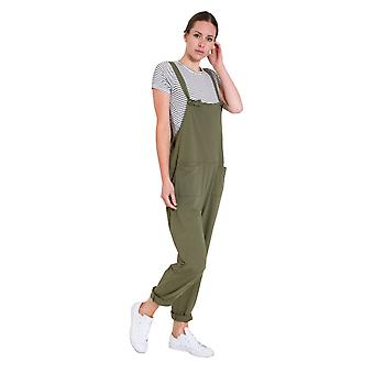 Ladies Jumpsuit - Olive Jersey All-in-one Playsuit
