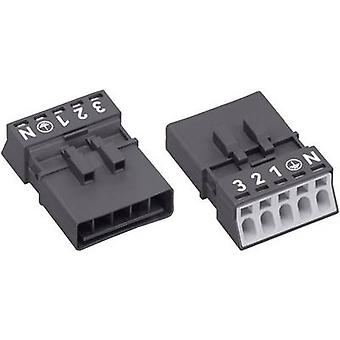 Mains connector WINSTA MINI Series (mains connectors) WINSTA MINI Plug, straight Total number of pins: 4 + PE 16 A Black