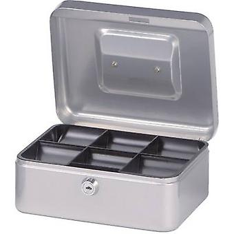 Cash box Maul 19200 (W x H x D) 200 x 90 x 170 mm Silver