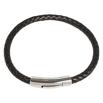 Simon Carter Thin Woven Bracelet - Black/Silver