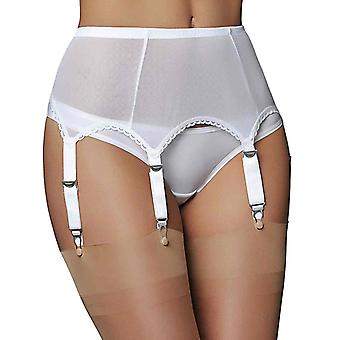 Premier Lingerie Sheer Mesh 6 Strap Suspender / Garter Belt for Stockings (PL61)