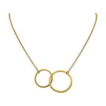 Gemshine Halskette Anhänger Eternity Kreise Infinity Minimalistisch Design Gold