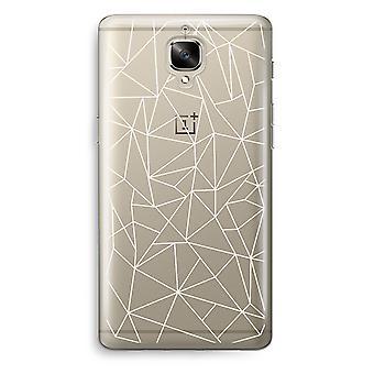 OnePlus 3 Transparent Case (Soft) - Geometric lines white