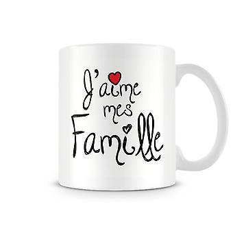 J'aime Mes Famille kubek