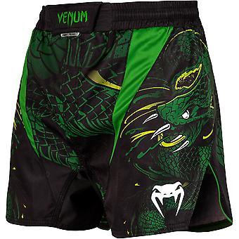 Venum Green Viper leichte MMA Fight Shorts - schwarz/grün