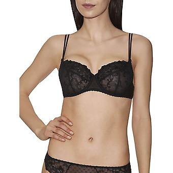 Aubade EF15 Women's Wandering Love Embroidered Underwired 3/4 Demi Cup Bra