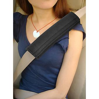 TRIXES Car Seatbelt Comfort Pads Hook And Loop Strap Travel Cushion