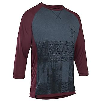 Ion Vinaceous 2018 Scrub Amp MTB Jersey ¾ Sleeved