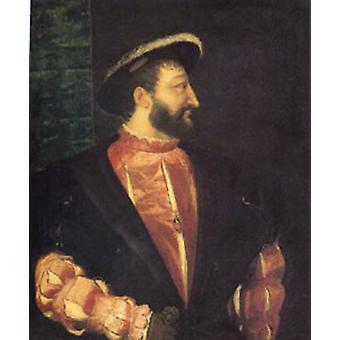 Francois I King of France, Titian, 60x50 cm
