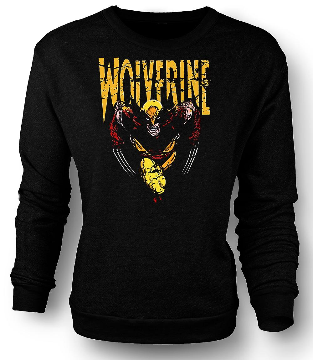 Mens Sweatshirt Wolverine - Classic Comic Hero