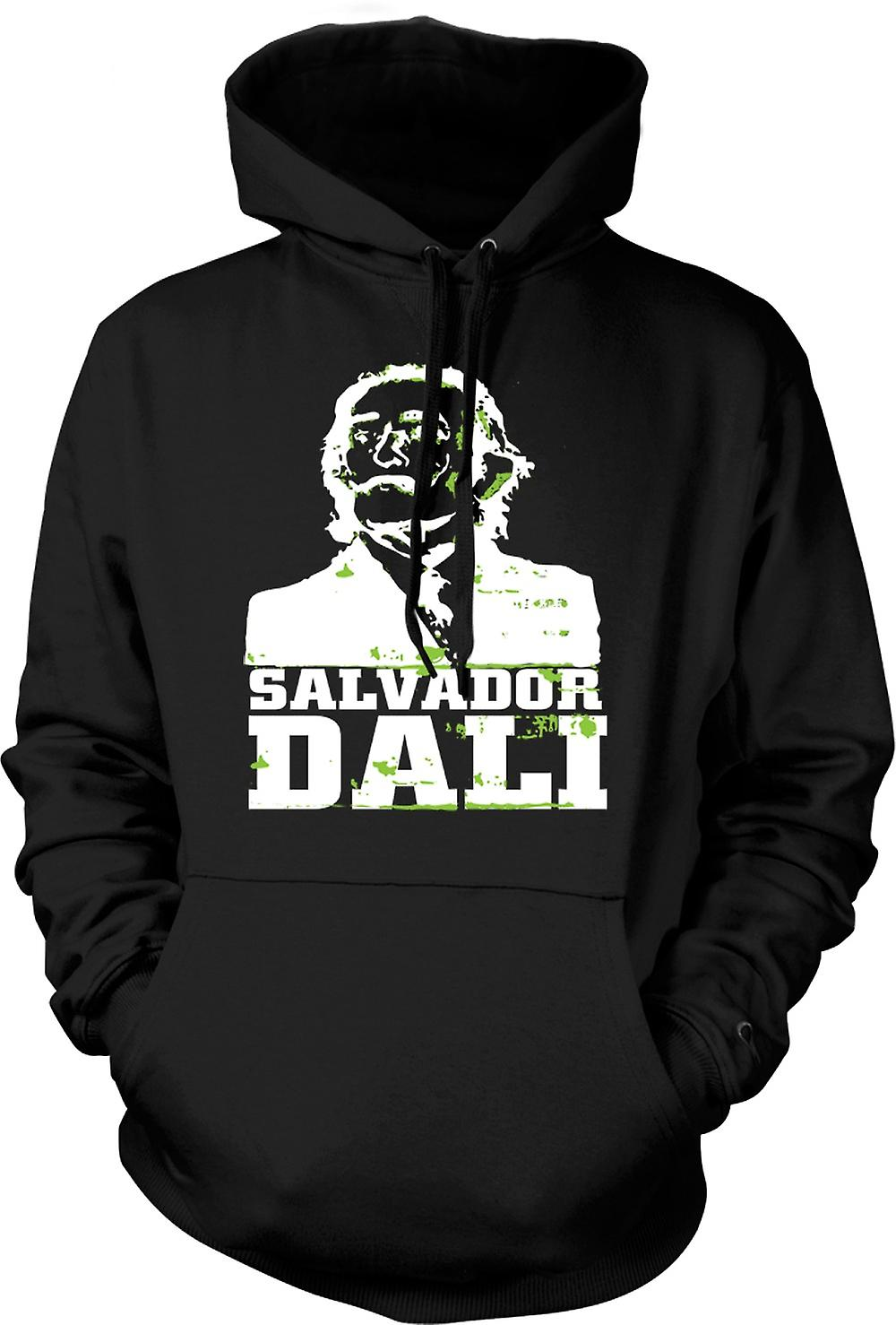 Mens Hoodie - Salvador Dali Portrait - Art Surréalisme