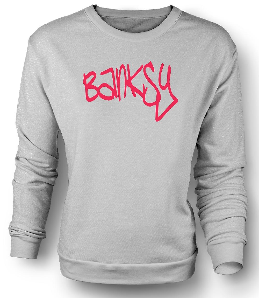 Mens Sweatshirt Banksy graffitimålare