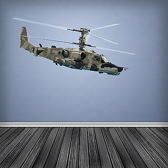 Full Colour Army Attack Helicopter Wall Sticker