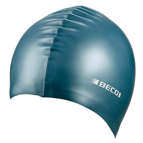 BECO Metallic Silicone Swimming Cap -Petrol Green