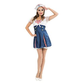 Orion Costumes Womens Navy Sailor Uniform Fancy Dress Costume